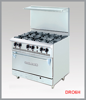 DELUXE RANGE OVEN WITH OPEN BURNER DRO6H